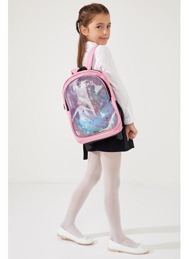 DeFacto Kız Çocuk Frozen Lisanslı Okul ve Sırt Çantası Pembe